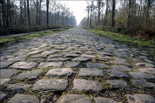 Parigi - Roubaix 2008 Allenamento sul pavè